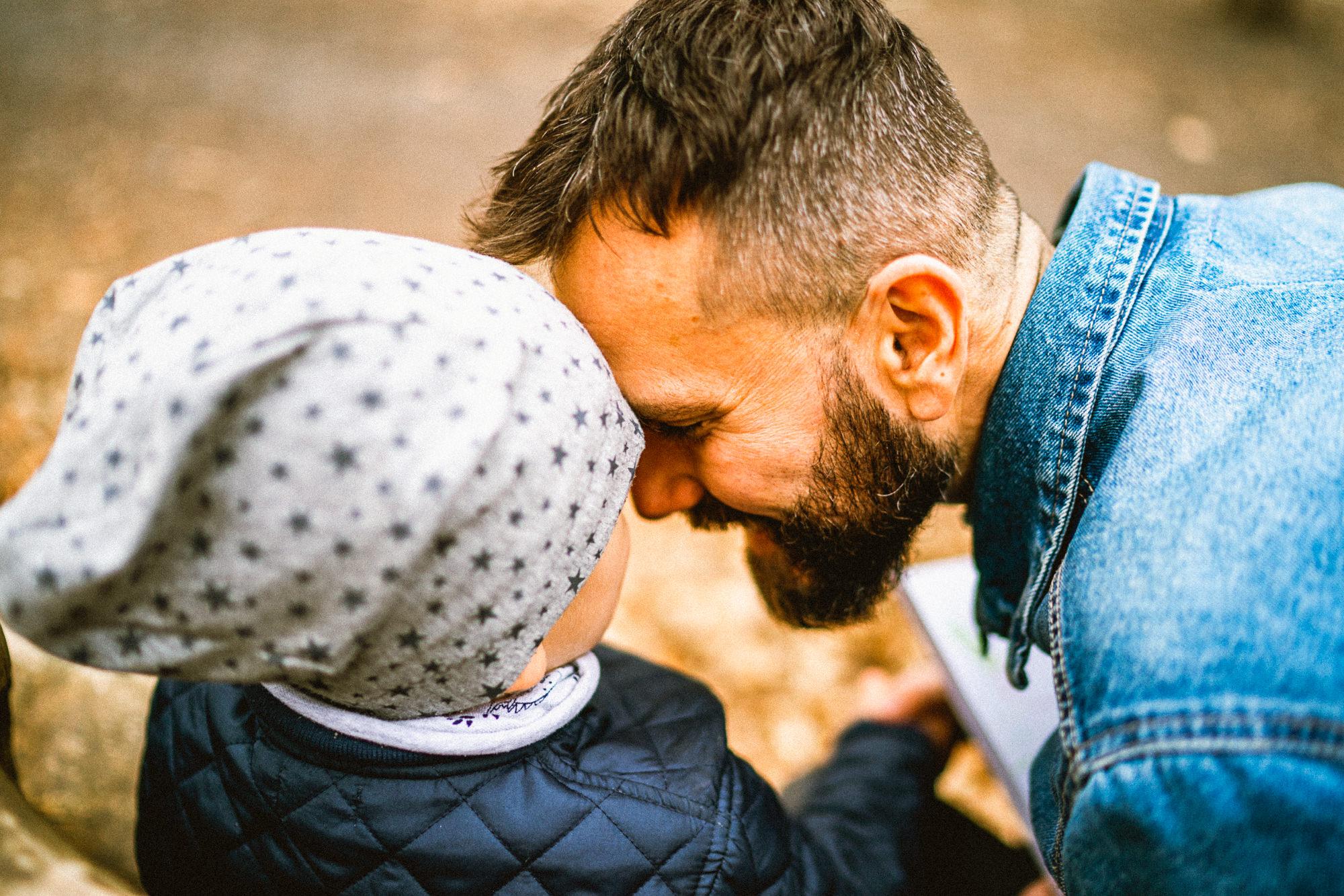 Otec se synem v Klimkovicích