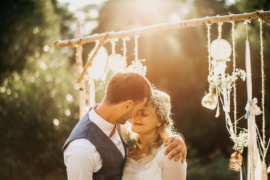V pozdním odpoledni na novomanželském focení